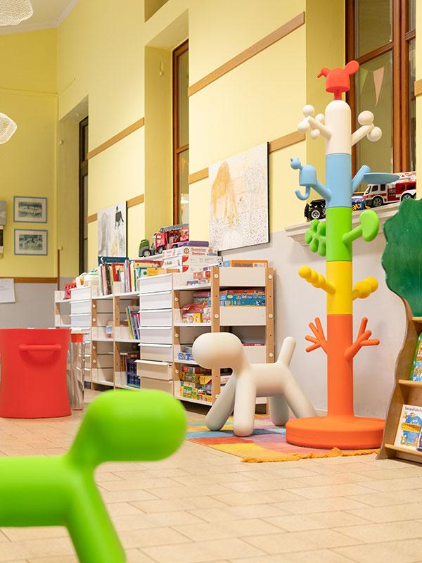 corridoio laboratorio per attività educative
